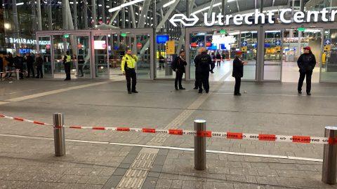 Op dinsdag 3 november rond 19 uur is station Utrecht Centraal ontruimd, foto: ANP