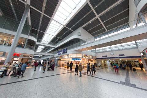 Het centraal station in Münster, foto: ANP