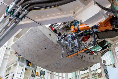 De Krokodyl Robot aan het werk in een TBM