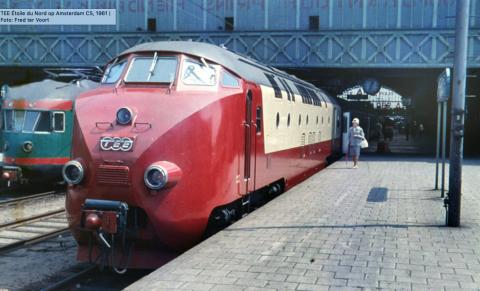 TEE Étoile du Nord op Amsterdam CS, 1961 | Foto: Fred ter Voort