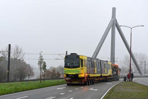 De laatste SIG-tram onderweg naar het Transport Museum, foto: Gerard van Buuren