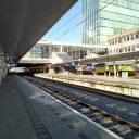 Een leeg Utrecht Centraal tijdens de coronacrisis