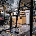 Schade in een supermarkt op Centraal Station Eindhoven, foto: ANP