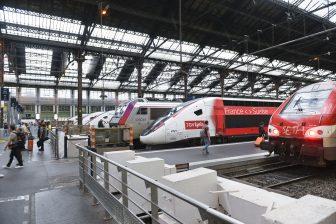 Hogesnelheidstreinen op station Gare du Nord in Parijs, foto: ANP