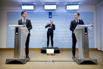 Persconferentie Rutte en De Jonge over coronamaatregelen, foto: ANP