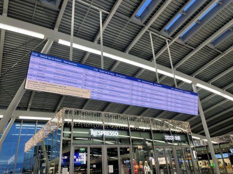 Reisinformatiescherm Utrecht Centraal, foto: NS