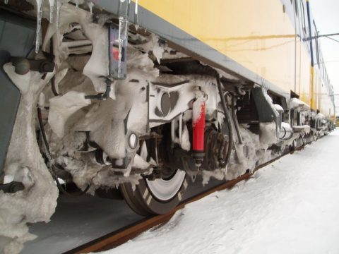sneeuw aan trein