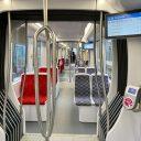 Een CAF-tram van het GVB op de Amstelveenlijn