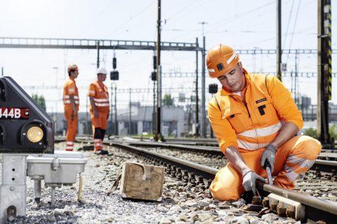 Werkzaamheden aan het spoor in Zwitserland, foto: SBB