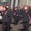 Protest van NS-medewerkers tegen krimpplannen