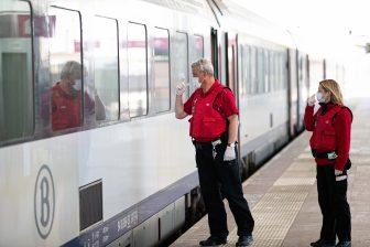 Conducteurs van de NMBS op station Gent Sint-Pieters