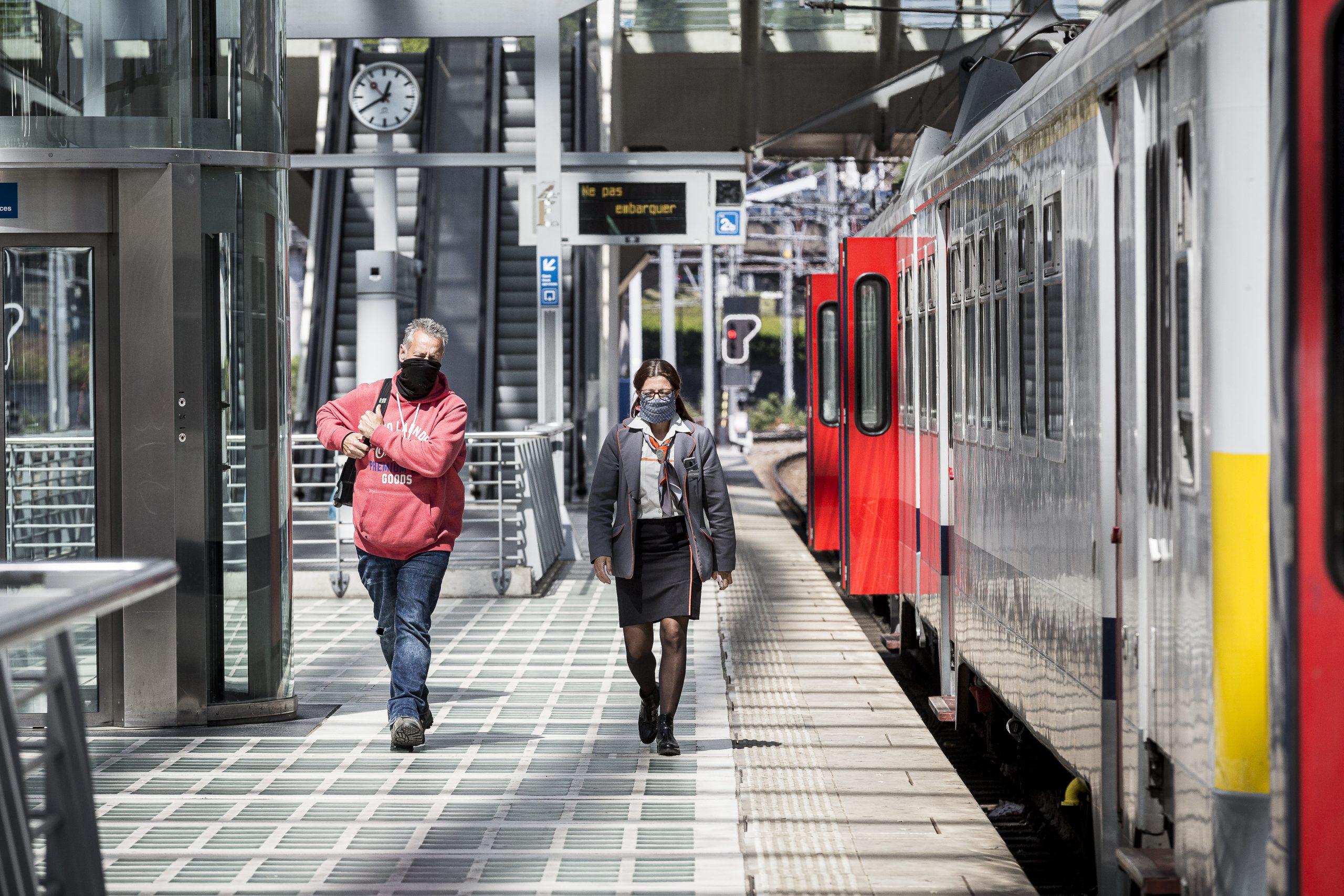 Een NMBS-trein op het station van Luik, bron: NMBS