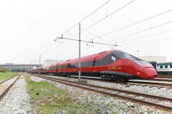 Een hogesnelheidstrein in Italië