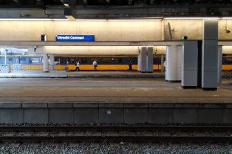 Utrecht Centraal tijdens de coronapandemie