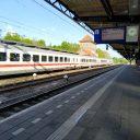 Een trein van Deutsche Bahn met de bestemming Berlijn op station Deventer