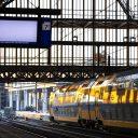 Amsterdam centraal station tijdens de staking, foto: ANP