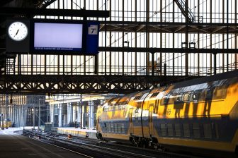 Amsterdam centraal station tijdens de staking, foto: ANP