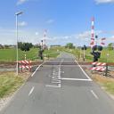 Bewaakte spoorwegovergang Ludingaweg in Harlingen, bron: Google Maps