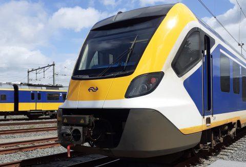 De Sprinter Nieuwe Generatie (SNG) van NS met nieuwe frontkleuren, foto: NS