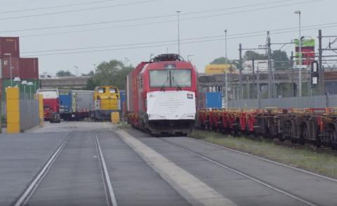 China-trein komt aan bij GVT in Tilburg