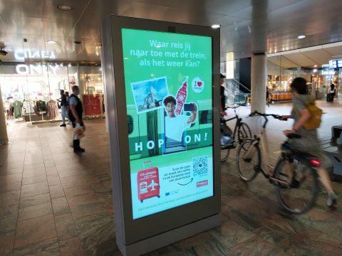 HOP ON campagne Europees Jaar van het Spoor