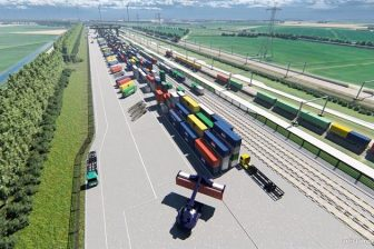 Artist impression Railterminal Gelderland