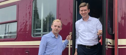 Maarten Bastian en Hessel-Winkelman van nachttreinexploitant GreenCityTrip
