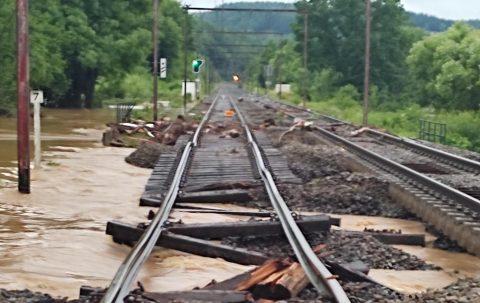 Spoor Wallonië wateroverlast, foto: Infrabel