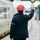 Duits stationsperron conducteur