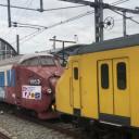 Trans Europ Express rijdt door Amsterdam Centraal