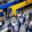 Mondkapje in de trein, foto: ANP