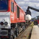 North Sea Port trein geladen op Kluizendok containers breakbulk